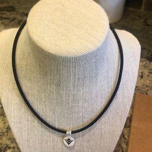 Silpada Black Leather Necklace